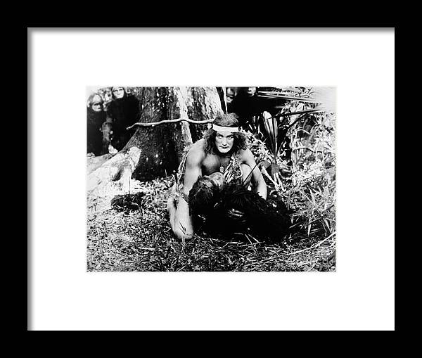 1918 Framed Print featuring the photograph Tarzan Of The Apes, 1918 by Granger