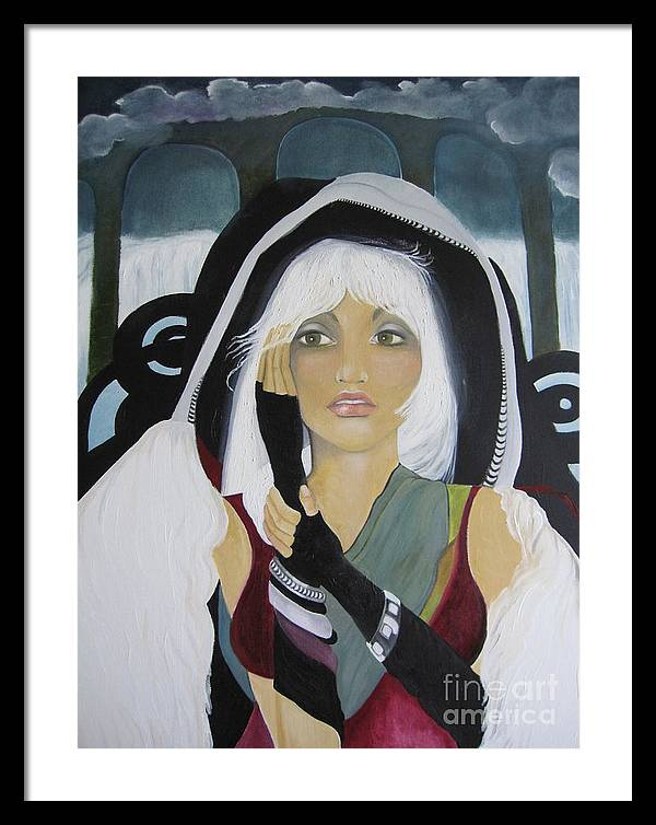 Fantasy Framed Print featuring the painting Tatiana by Sharyn Rich