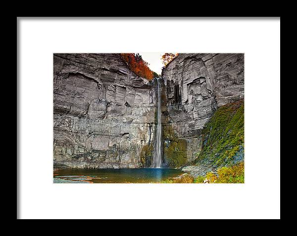 Waterfall Framed Print featuring the photograph Taughannock Falls by Mark Dottle