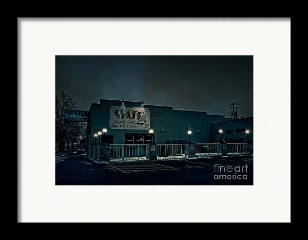 Spats Framed Print featuring the photograph Tav On The Ave by Joel Witmeyer