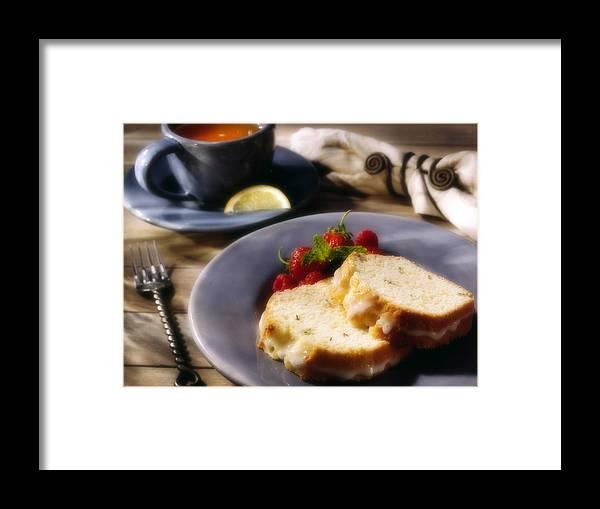 Tea Framed Print featuring the photograph Tea And Cake by Federico Arce