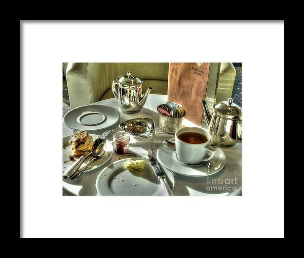 Tea Framed Print featuring the photograph Tea For Two by Michael Garyet