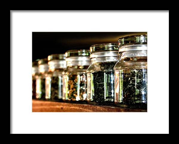 Tea Framed Print featuring the photograph Tea Soldiers by Sally Bauer