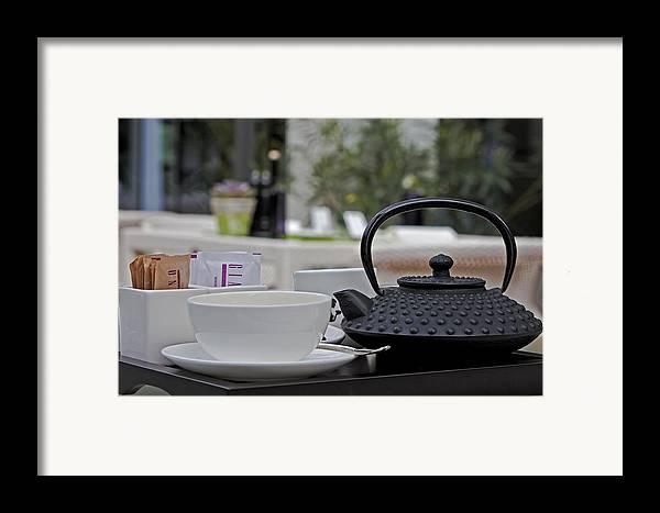 Chair Framed Print featuring the photograph Tea Time by Joana Kruse
