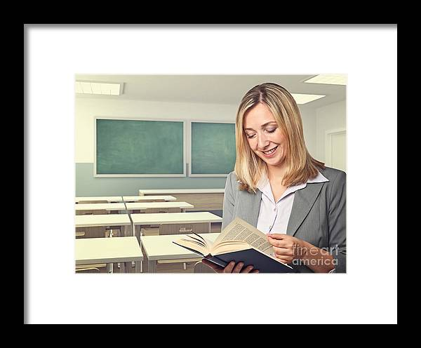 Teacher Framed Print featuring the photograph Teacher Portrait by Gualtiero Boffi