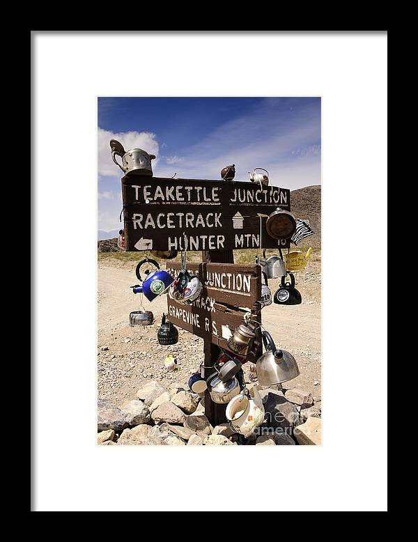 California Framed Print featuring the photograph Teakettle Junction by Katja Zuske