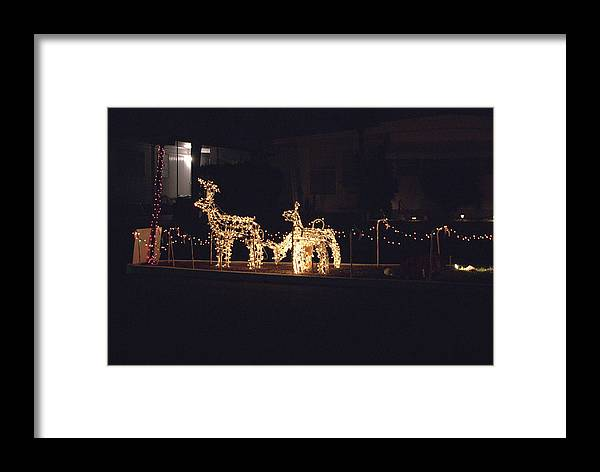 Japanese Framed Print featuring the photograph Teakwood Island Reindeer by John Wright
