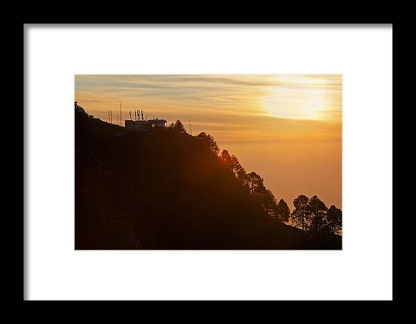 Interesting Framed Print featuring the photograph Techno Trikuta Sunset by Kantilal Patel