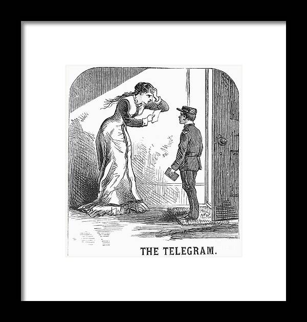 1879 Framed Print featuring the photograph Telegram: Death, 1879 by Granger