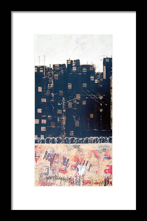 Mixed Media Framed Print featuring the mixed media Tenement by Jo Roffe