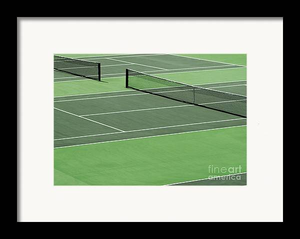 Sport Framed Print featuring the photograph Tennis Court by Blink Images