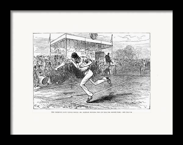 1880 Framed Print featuring the photograph Tennis: Wimbledon, 1880 by Granger