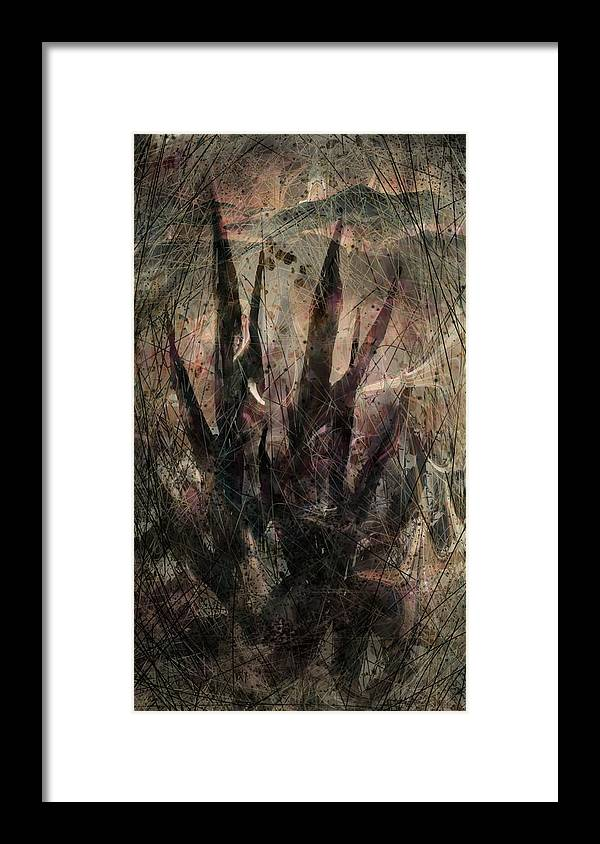 Landscape Framed Print featuring the digital art Tequila Sunrise by William Russell Nowicki