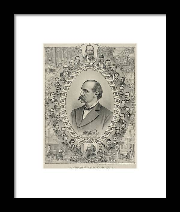 Historical Framed Print featuring the photograph Terence Vincent Powderly 1849-1924 by Everett