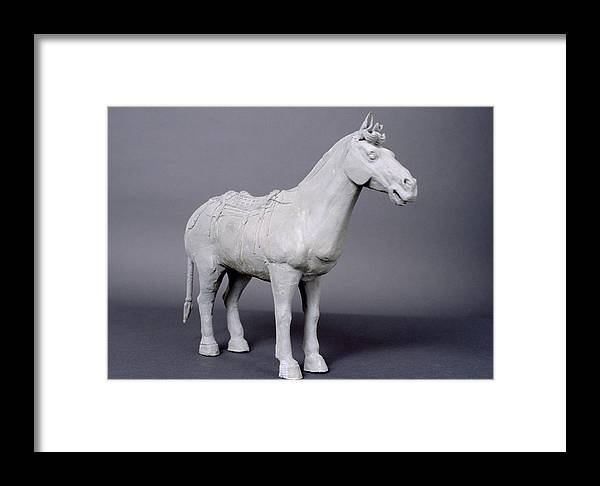 Terracotta Horse Framed Print featuring the photograph Terracotta Horse by Shaun Higson