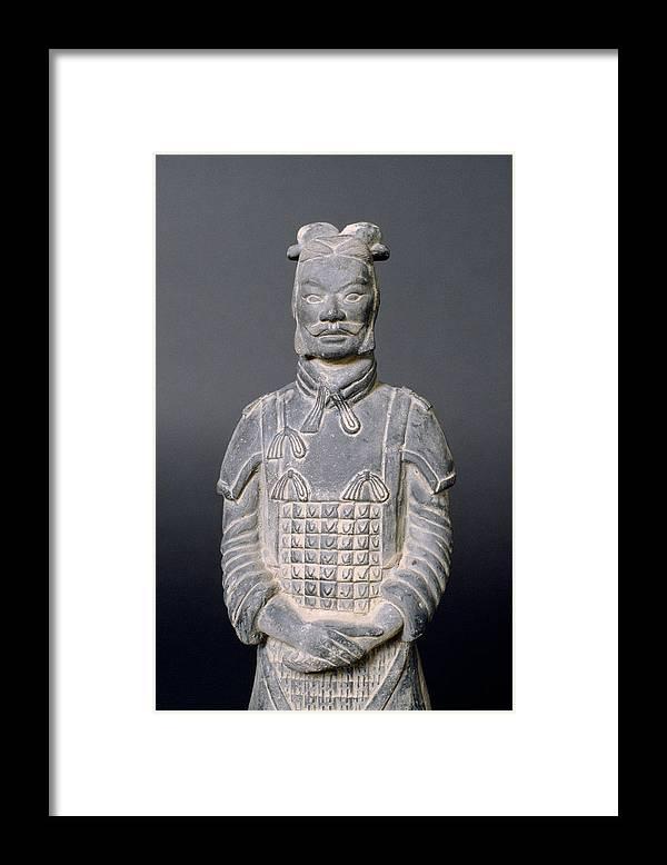 Terracotta Warrior Framed Print featuring the photograph Terracotta Warrior Soldier by Shaun Higson