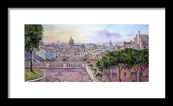 terrazza Caffarelli Framed Print by Jose Luis Vertiz