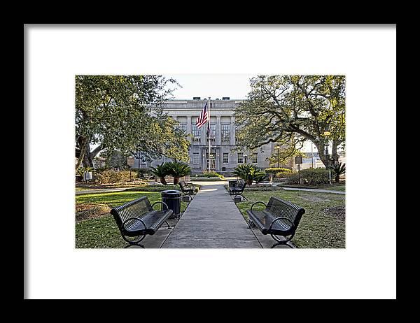 Terrebonne Parish Framed Print featuring the photograph Terrebonne Court House by Timothy V Ganier
