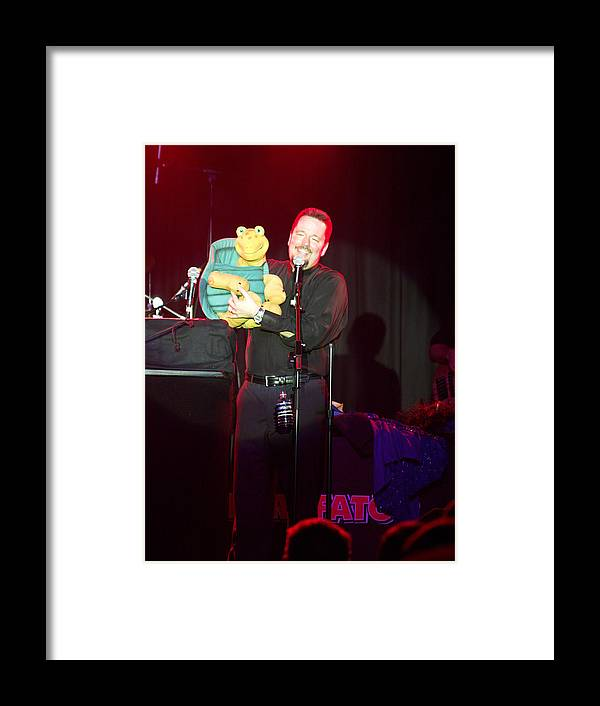 Terry Fator Live At The Morongo Casino Framed Print featuring the photograph Terry Fator by Kenneth Dow