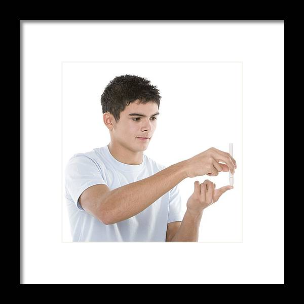 16-17 Years Framed Print featuring the photograph Testing Blood Glucose Levels by