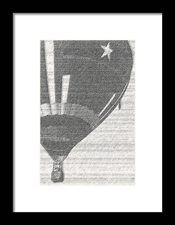 Hot Air Balloon Framed Print featuring the mixed media Texas Star Balloon by Kim Henderson