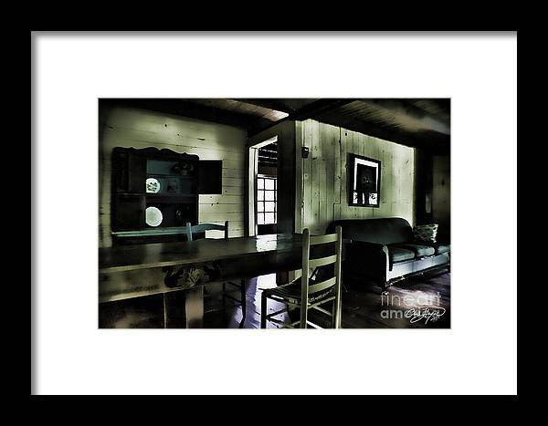 Cabin Framed Print featuring the photograph Textured Art - Inside Heaven by Cris Hayes