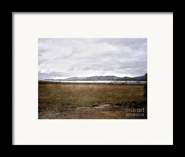 Brown Framed Print featuring the photograph Textured Land by Joanne Kocwin
