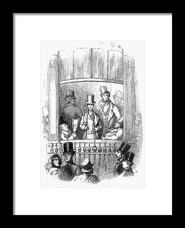 1855 Framed Print featuring the photograph Thackeray: Newcomes, 1855 by Granger