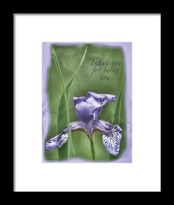 Thank You For Being You Framed Print featuring the photograph Thank You For Being You by Debra   Vatalaro
