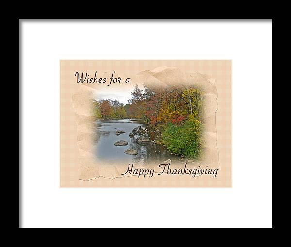 Thanksgiving Framed Print featuring the photograph Thanksgiving Greeting Card - Autumn Creek by Mother Nature
