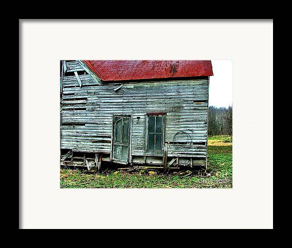 Old Abandoned Houses Framed Print featuring the photograph That Old House Down By The Creek by Julie Dant