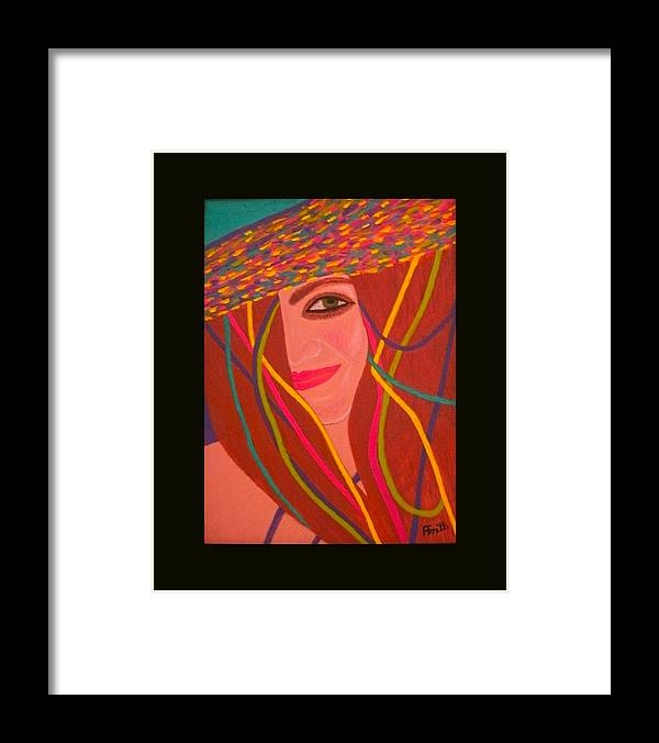 Acrylic Framed Print featuring the painting That Smile by Anneliese Fritts