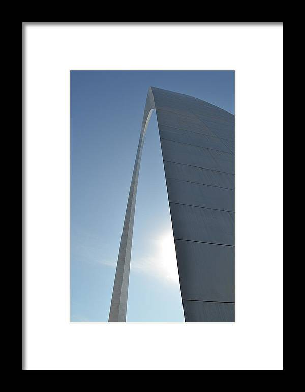 Architecture Framed Print featuring the photograph The Arch Rises by Tiffany Ball-Zerges