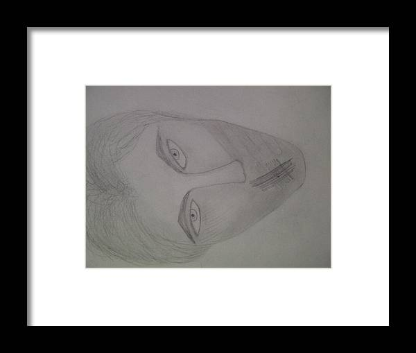 Abstract Framed Print featuring the drawing The Assistant by Samantha Gilbert