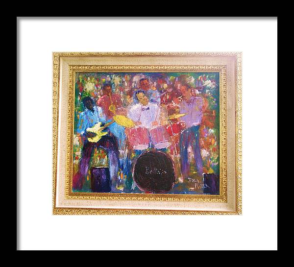 Jazz Framed Print featuring the painting The Backsliders by Dale Miller