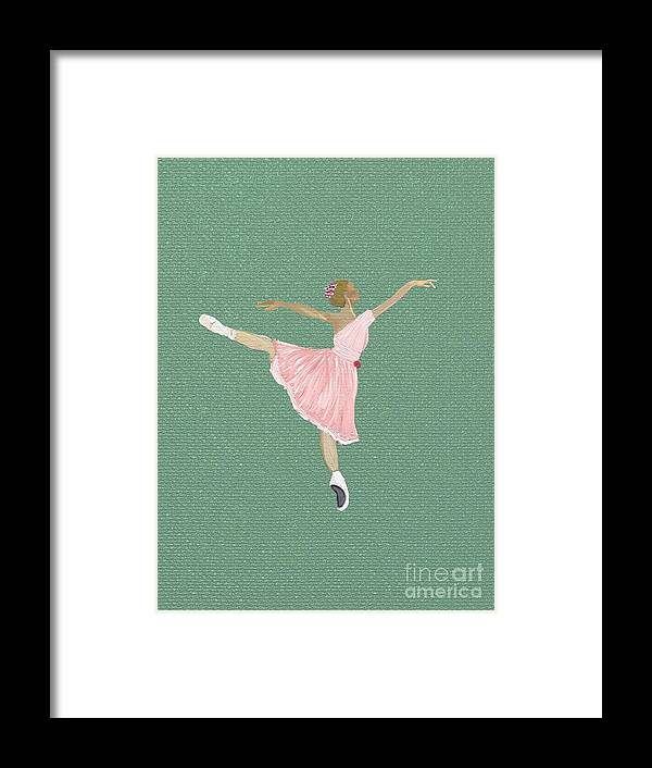 Painting Framed Print featuring the painting The Ballerina II by Elizabeth Coats