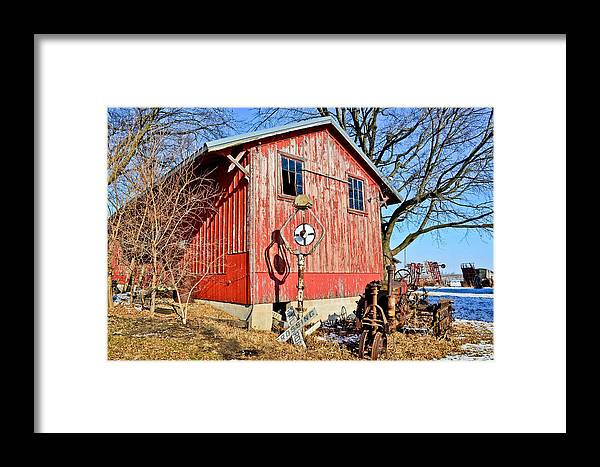 Barn Framed Print featuring the photograph The Barn by Brenda Becker