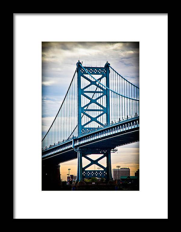 Ben Franklin Bridge Framed Print featuring the photograph The Ben Franklin At Dawn by Stacey Granger