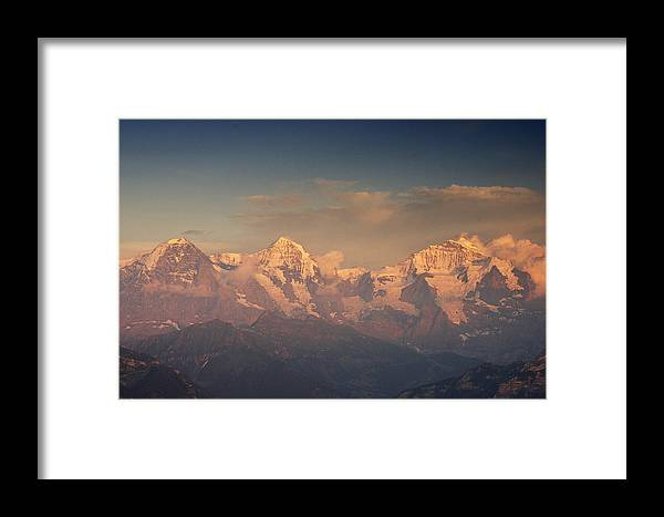 Alps Framed Print featuring the photograph The Bernese Alps by Ulrich Burkhalter