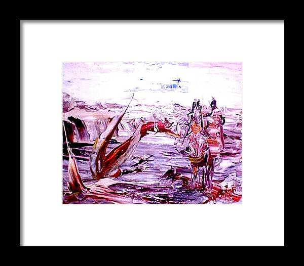 Return Framed Print featuring the painting The Big Return by Bob Usoroh