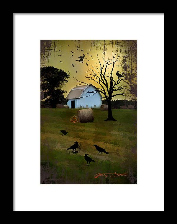 Halloween Framed Print featuring the photograph The Birds by Mary Timman