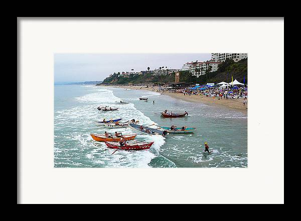 Boat Race Framed Print featuring the photograph The Boat Race by Ron Regalado