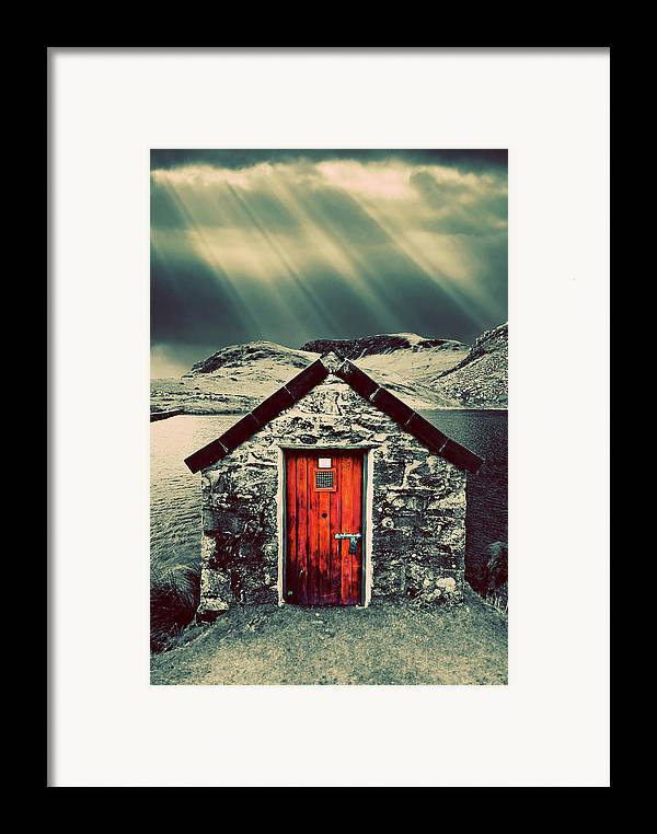 Snowdonia Framed Print featuring the photograph The Boathouse by Meirion Matthias