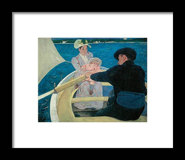 Mary Cassatt Framed Print featuring the painting The Boating Party by Mary Cassatt