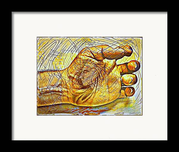 Secret Framed Print featuring the digital art The Body As The External Representation Of Internal Reality by Paulo Zerbato