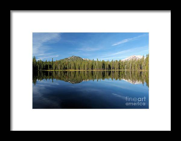 Summit Lake Framed Print featuring the photograph The Bow And Arrow by Adam Jewell