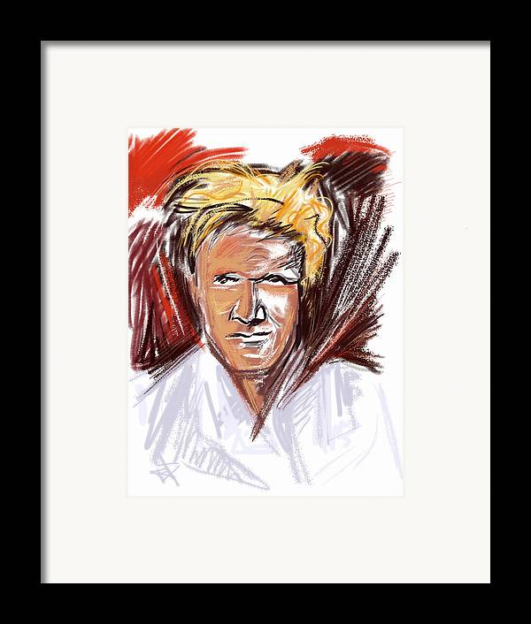 Gordon Ramsay Framed Print featuring the mixed media The Chef by Russell Pierce