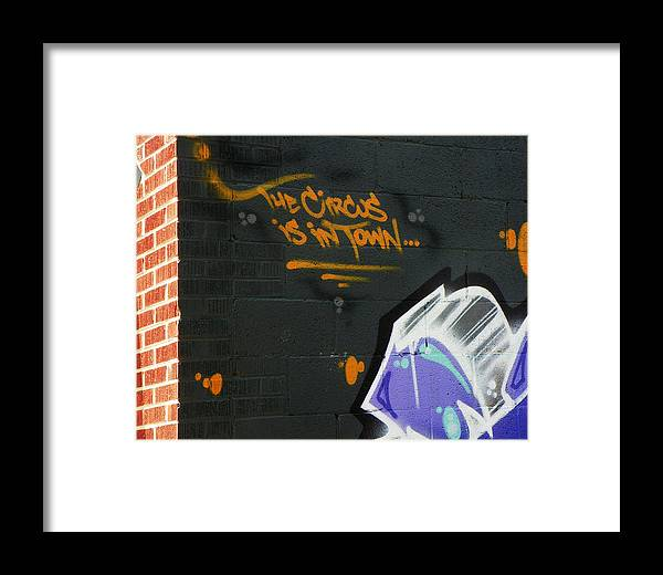 Abstract Framed Print featuring the photograph The Circus by Lenore Senior