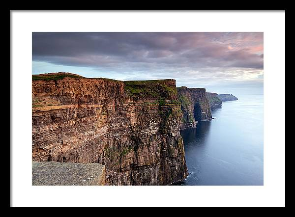 Moher Framed Print featuring the photograph The Cliffs Of Moher by Brendan O Neill