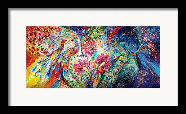 Judaica Framed Print featuring the painting The Colors Of Day by Elena Kotliarker